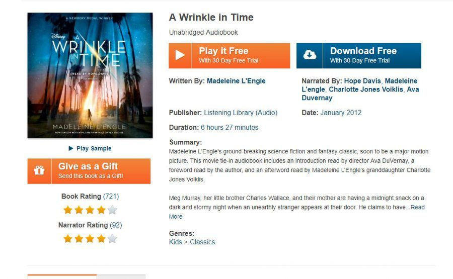 A wrinkle in time free audio book page