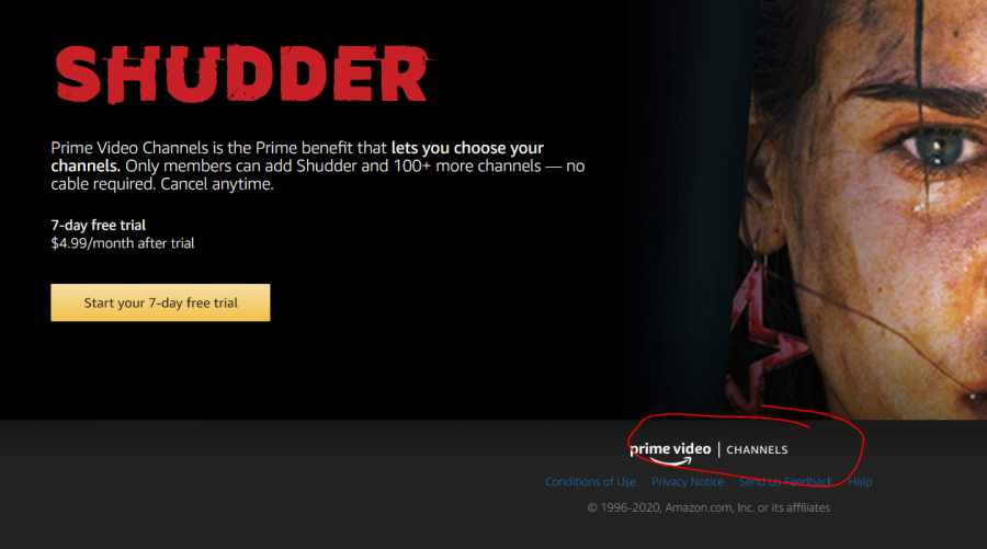 shudder free trial on amazon channels